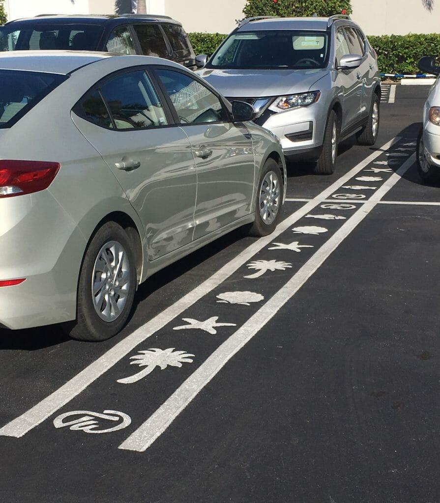 Custom Parking Space Line Stencil
