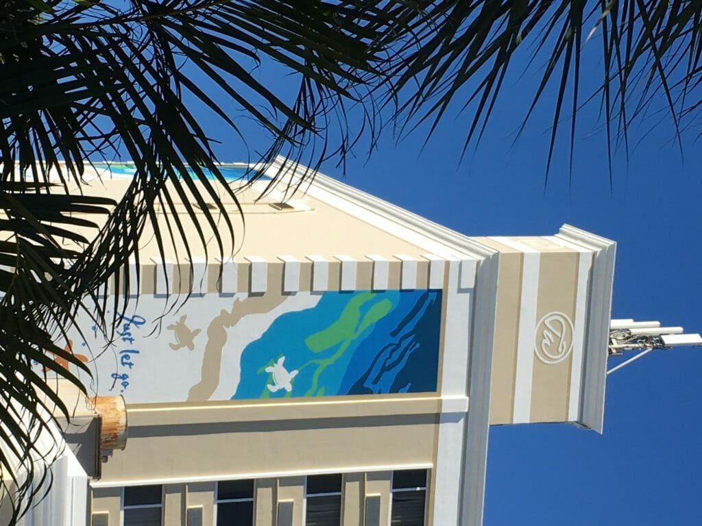 Tradewinds Hotel Custom Building Logo