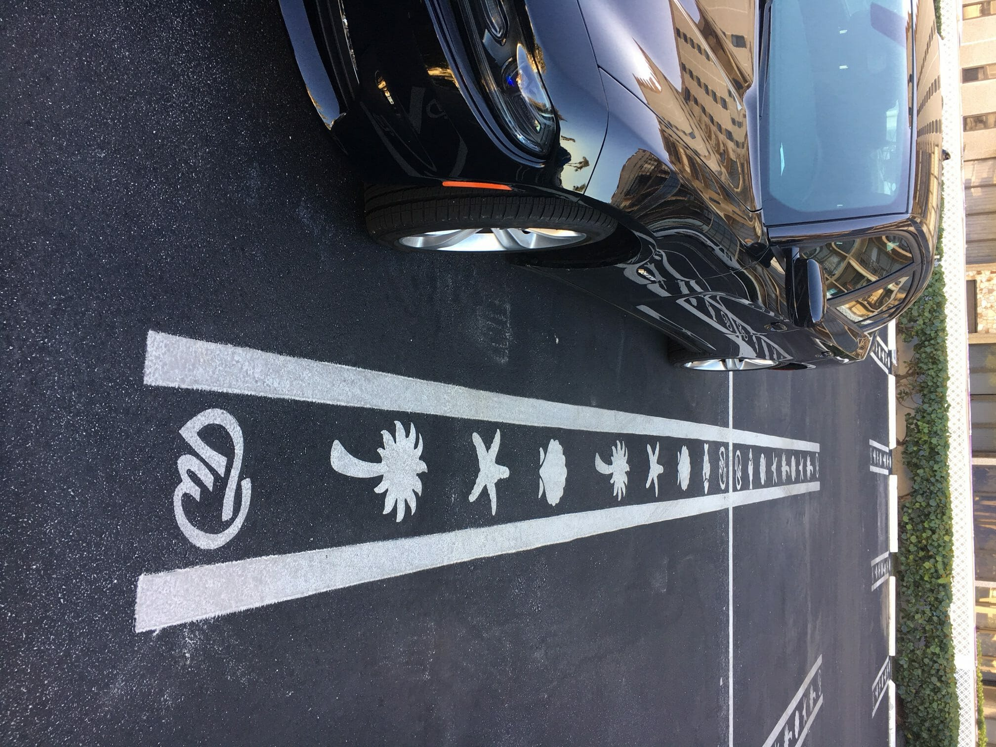 Custom Parking Space Line Stencils