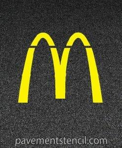McDonald's Arches Stencil