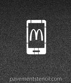 McDonalds App Stencil