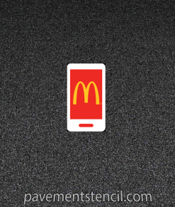 Multi Color McDonald's App Stencil