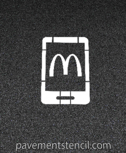 McDonalds Parking Lot Stencil