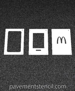 McDonald's App Stencil