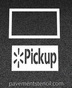 Walmart pick up stencil