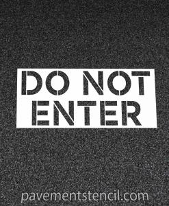 Chipotle do not enter stencil