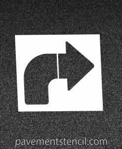 Chipotle right turn arrow stencil