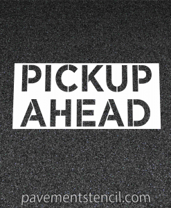 Chipotle pick up ahead stencil