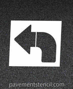 Chipotle left turn arrow stencil