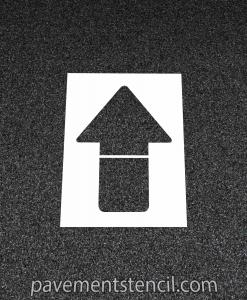 Chipotle straight arrow stencil