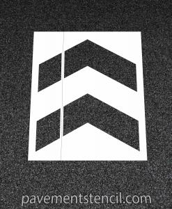 Target arrow stencil