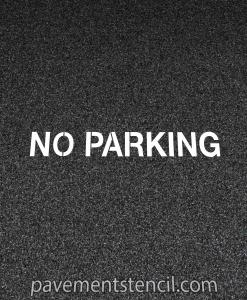 Target no parking stencil