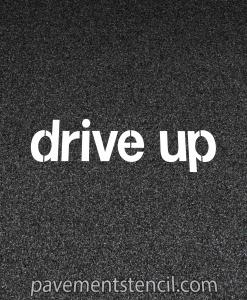 Target drive up stencil