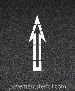 Walmart straight arrow stencil